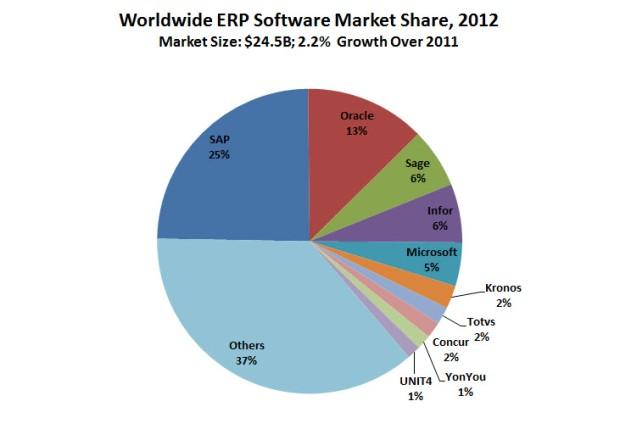 ERP Market Share 2012 Stats